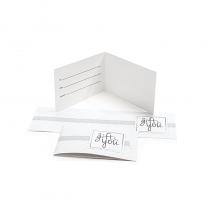 Gift Card Carrier Horizontal Stripe White - 250pk