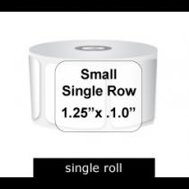 Zebra Labels 125 X 1 Single Row