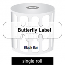 Zebra Labels Butterfly Black Bar