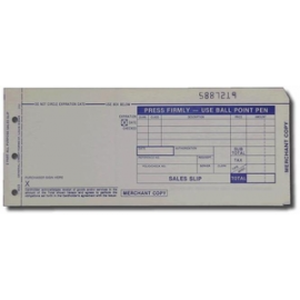 Credit Card Imprint Slips - 50 Ct