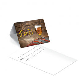 Gift Card Carrier Beer  Barrel - 250pk