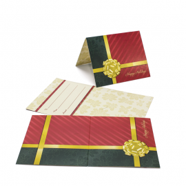 Gift Card Carrier Gold Bow - 250pk