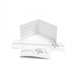 Gift Card Carrier Horizontal Stripe White - 250pk