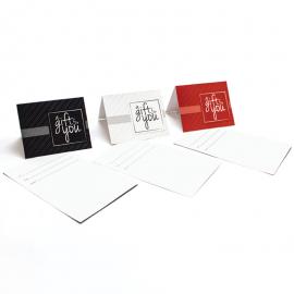 Gift Card Carrier Vertical Stripe White - 250pk