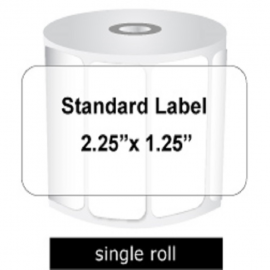Zebra Labels 225 X 125 Standard