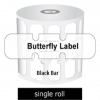 Zebra Labels Butterfly Black Bar