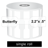 Zebra Labels Butterfly Gap No Tabs